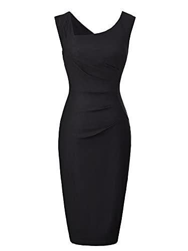 Belle Poque Damenkleider elegant Sommerkleid Knielang Casual Kleid Vintage businesskleid Größe M BP302-1