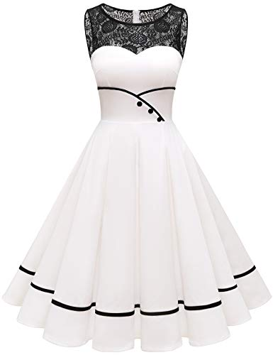 Bbonlinedress cocktailkleid Abendkleid Damen Kleider Abendkleider kurz Rockabilly Kleider Damen Vintage Kleid Kleid...