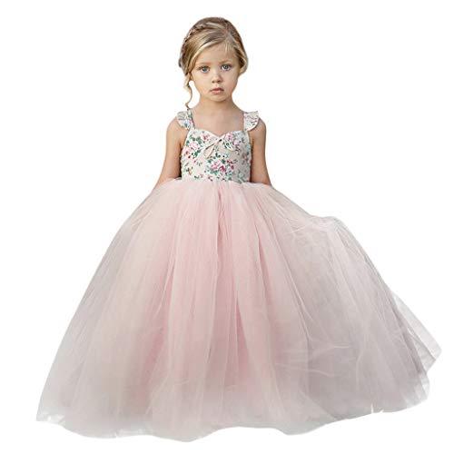 Allence Prinzessin Kleid Mädchen Abendkleid für Hochzeit Brautjungfer Blumenmädchen Geburtstag Party Jugendweihe...