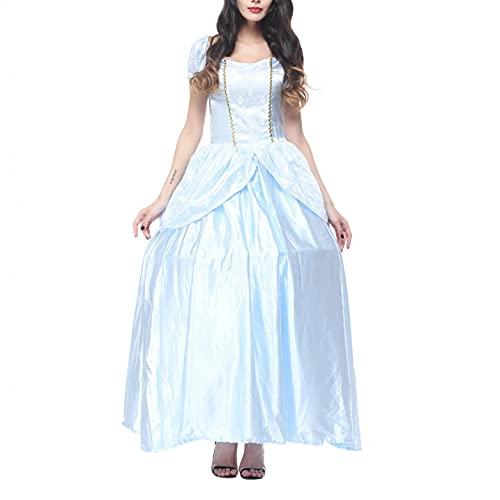 SEEGOU Damen Abendkleid Mittelalterlicher Hof Partykleid Magie Hexe Kleid Party Kostüm Cosplay Prinzessin Langes Kleid...