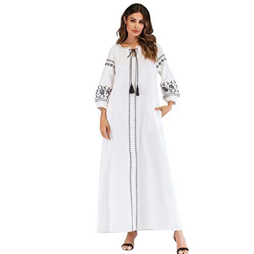 CICIYONER Kleider Frauen moslemisches langes Hülsen-gesticktes arabisches Plus Größen-Kleid Islam Jilbab Kleid...