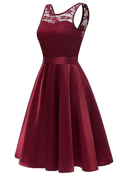 Jugendweihe Kleid rot lang Abiballkleid Abschlussballkleid